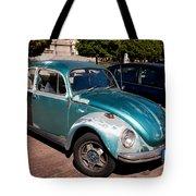 Green Old Vintage Volkswagen Car Tote Bag