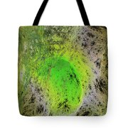 Green On Center Stage Tote Bag