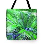 Green Palm Tote Bag