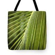 Green Palm Leaf Tote Bag