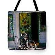Green Parrot Bar Key West Tote Bag by Susanne Van Hulst
