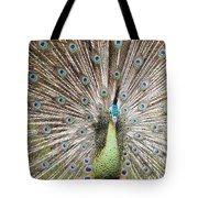Green Peacock Tote Bag
