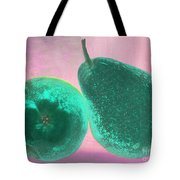 Green Pears On Pink Tote Bag