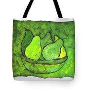 Green Pears Tote Bag