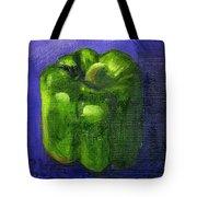 Green Pepper On Linen Tote Bag