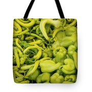 Green Peppers Tote Bag