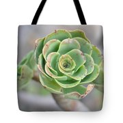 Green Petals Tote Bag
