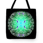 Green Piece Mandala Tote Bag