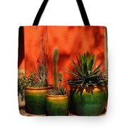 Green Pots Tote Bag