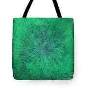 Green Radation With Violet  Tote Bag