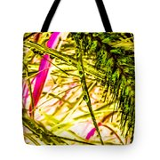 Green Rain Drops Tote Bag