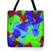Green Red And Blue Melody Panel Abstract Tote Bag