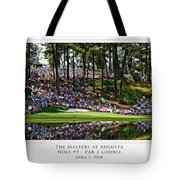 Green Reflections Par 3 Hole 9 Tote Bag by Barry C Donovan