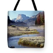 Green River, Frosty Morning Tote Bag