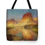 Green River Of Wyoming Tote Bag by Thomas Moran