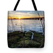 Green Rock Sunset Tote Bag
