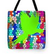 Green Shadow Tote Bag
