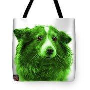 Green Shetland Sheepdog Dog Art 9973 - Wb Tote Bag