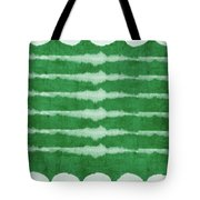 Green Shibori 3- Art By Linda Woods Tote Bag
