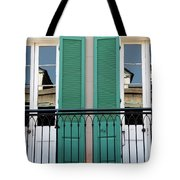 Green Shutters Reflections Tote Bag
