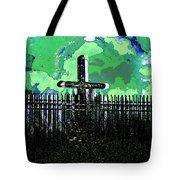 Green Sky Cross Tote Bag