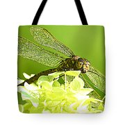 Green Spotted Dragonfly 2 Tote Bag