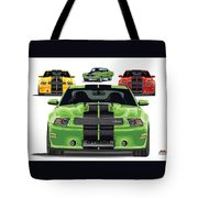 Green Stang Tote Bag