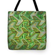Green Steps Abstract Tote Bag