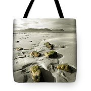 Green Stones On A North Wales Beach Tote Bag