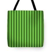 Green Striped Pattern Design Tote Bag