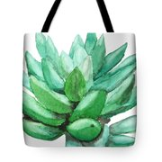 Green Succulent  Tote Bag