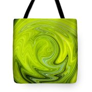 Green Swirl Tote Bag