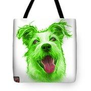 Green Terrier Mix 2989 - Wb Tote Bag