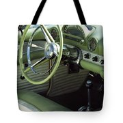Green Thunderbird Wheel And Front Seat Tote Bag