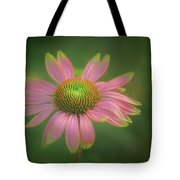 Green Tipped Coneflower Tote Bag