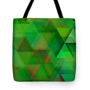 Green Triangles Over Green Mist Tote Bag