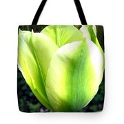Green Tulip Tote Bag