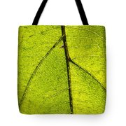 Green Veins Tote Bag