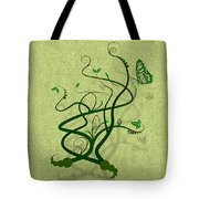 Green Vine And Butterfly Tote Bag
