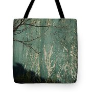 Green Wall Abstract Tote Bag