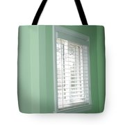 Green Wall White Window Tote Bag