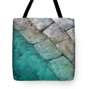 Green Water Blocks Tote Bag