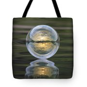 Green Waters And Cloudy Skies Tote Bag