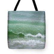 Green Wave Tote Bag