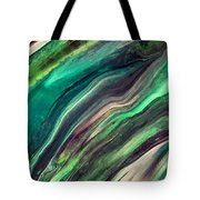 Green Waves Tote Bag