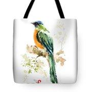 Green Wild Bird Tote Bag