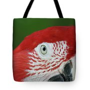 Green-winged Macaw Close Up Tote Bag