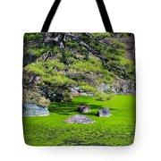 Green Winter Tote Bag