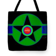 Green With Blue Tote Bag