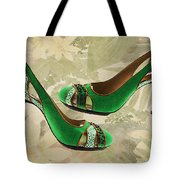 Green With Envy Pumps Tote Bag
